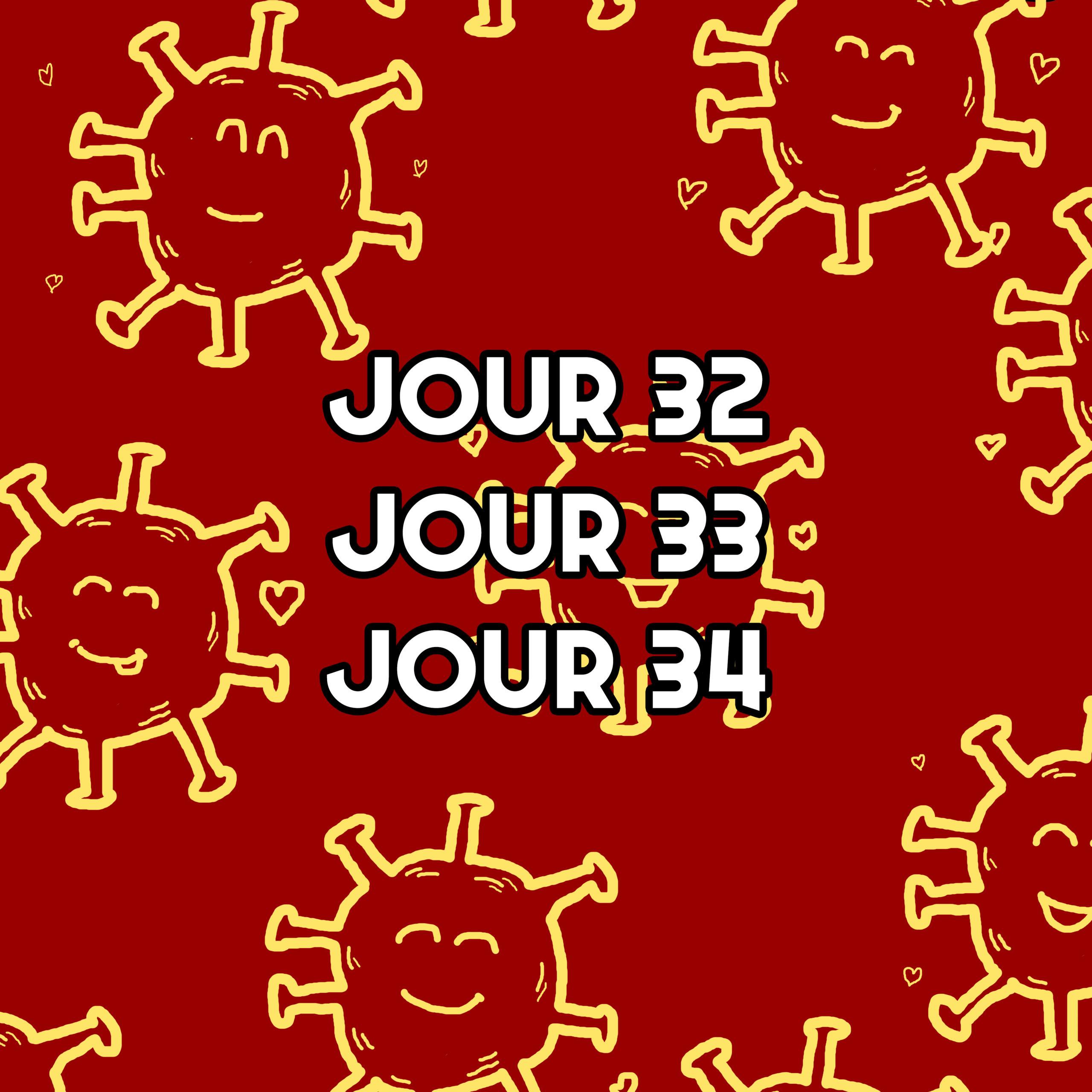 Jour 32 33 34 – Penser à rappeler l'herpès